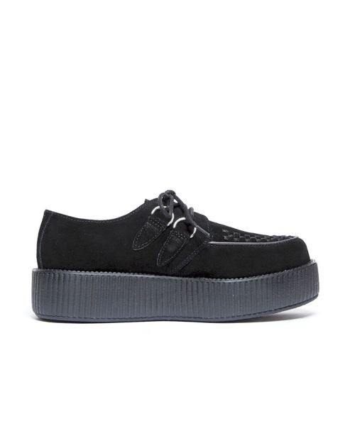 Scarpe Tuk Suede Low Creepers Black