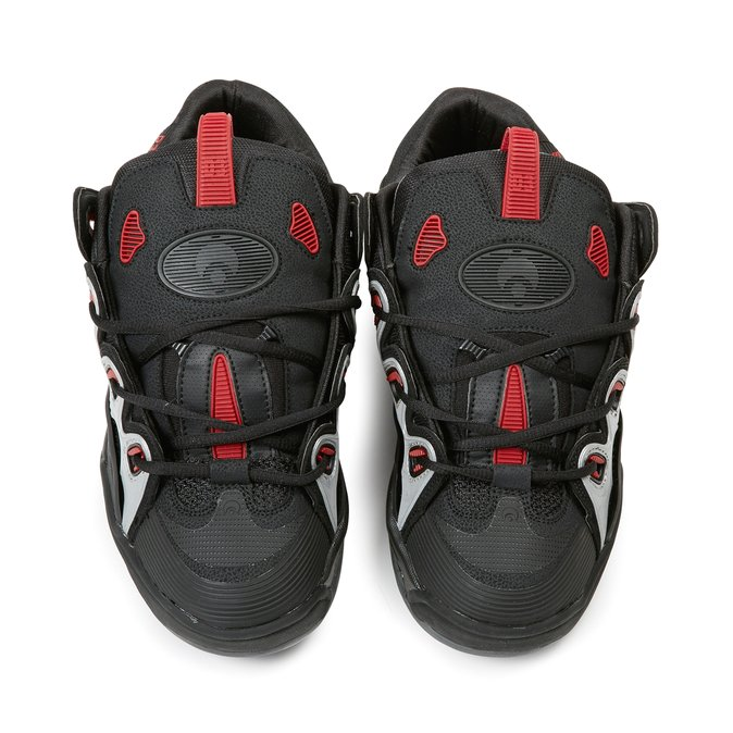 scarpe osiris d3 black charcoal red