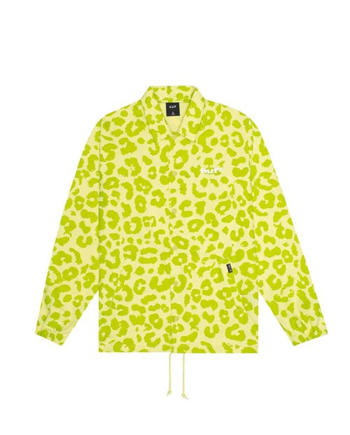Huf Jacket Neo Leopard Coach LIME