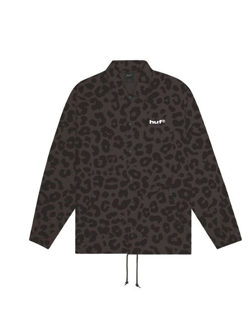 Huf Jacket Neo Leopard Coach BLACK