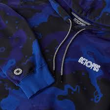Octopus Camo Hoodie blue
