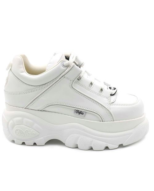 Scarpe Buffalo London Cow Leather Soft Bianco 01