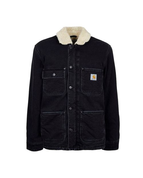Cappotto Carhartt Fairmount Black Stone Washed