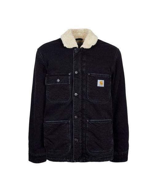 Carhartt Fairmount Coat Black Stone Washed1