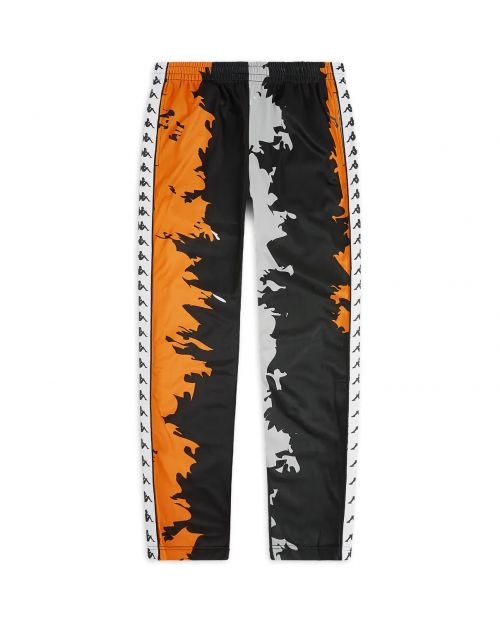 Kappa Pantaloni 222 Banda Astoria Graphik Slim- BLK:WHT:ORANGE GRAPHIK 1