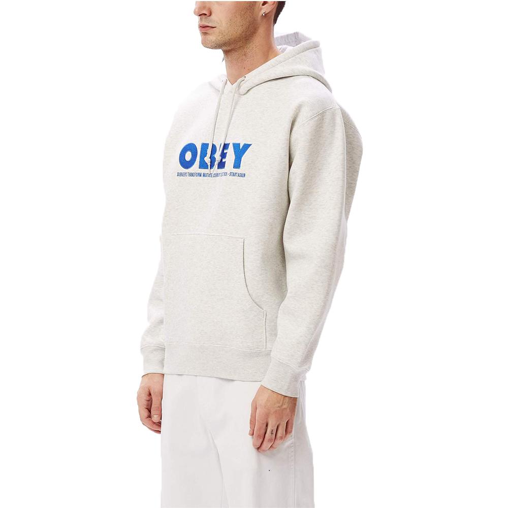 Obey Hubbs Pullover Hood Grey1