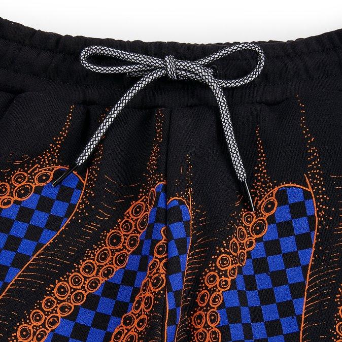 Octopus Pantaloni Checkered Sweatshorts