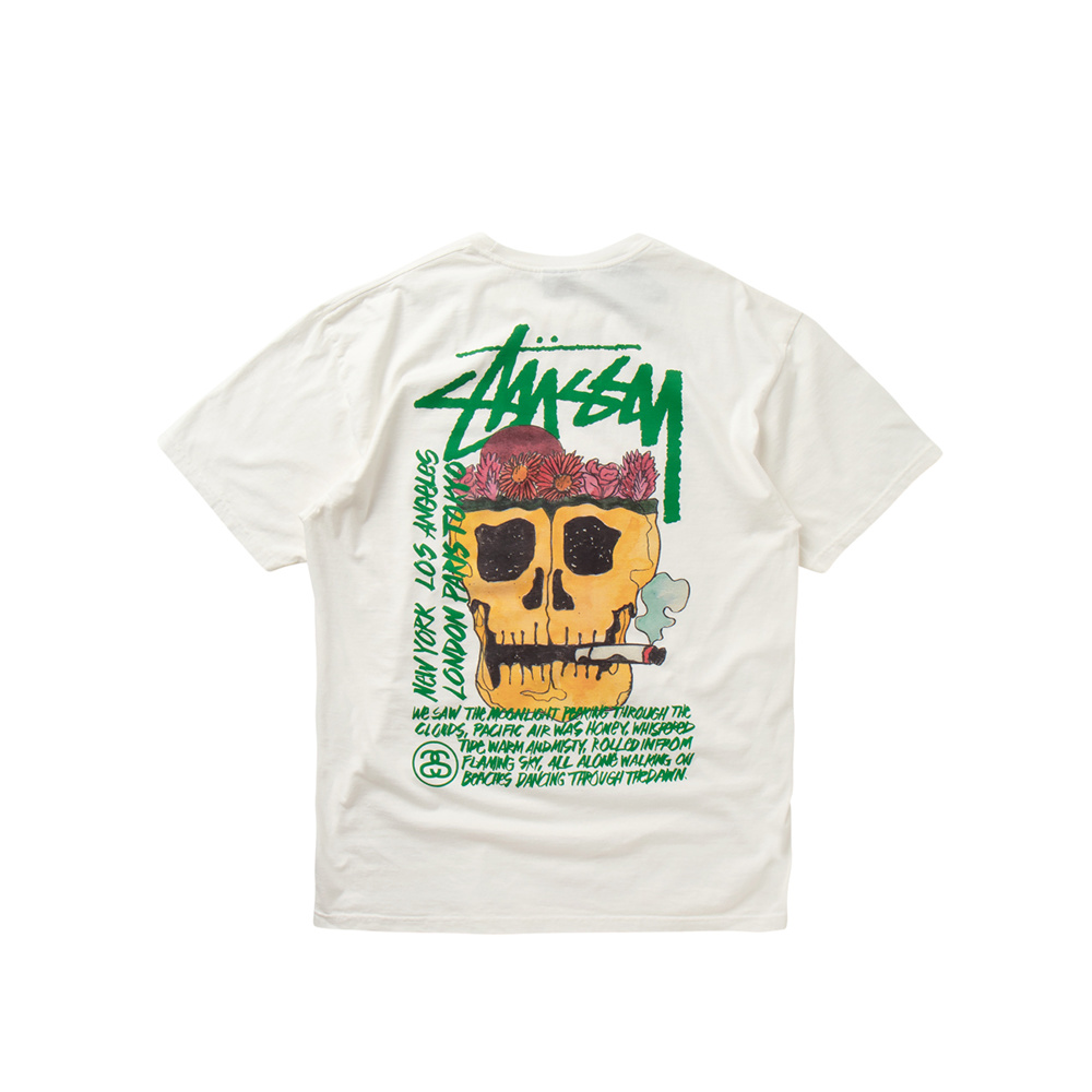 Stussy T-Shirt Smokin' Skull