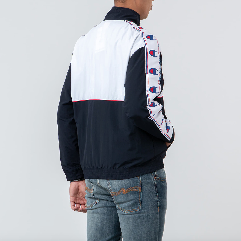 CHAMPION Sweatshirt Reverse Weave track top - NVY/WHT/RED