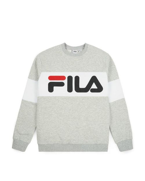 Fila Felpa da Uomo Straight Blocked Crew