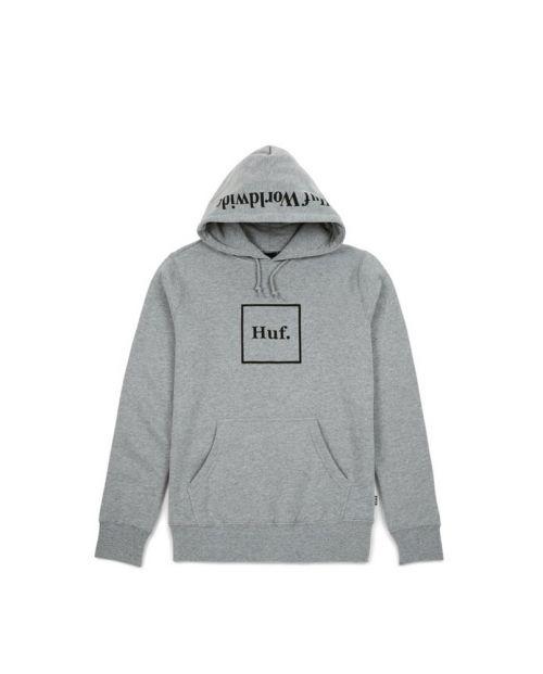 HUF Felpa Box Logo P/O Hoodie Grey