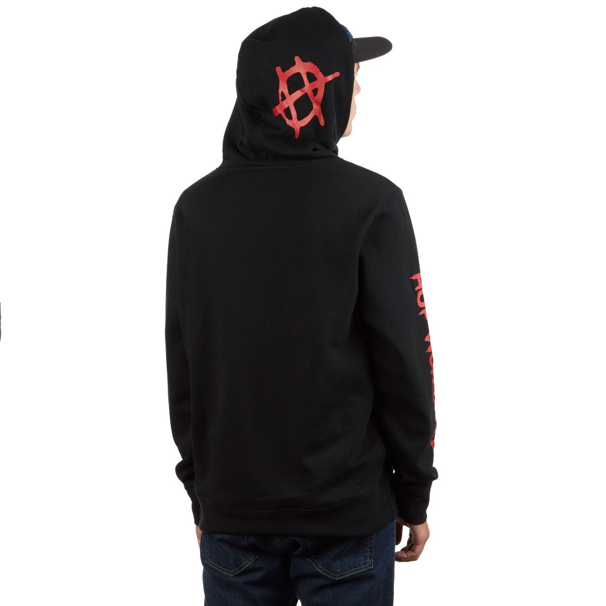HUF Felpa Riot P/O Hoodie - Black