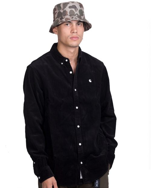 CARHARTT L/S Madison Cord Shirt - Black
