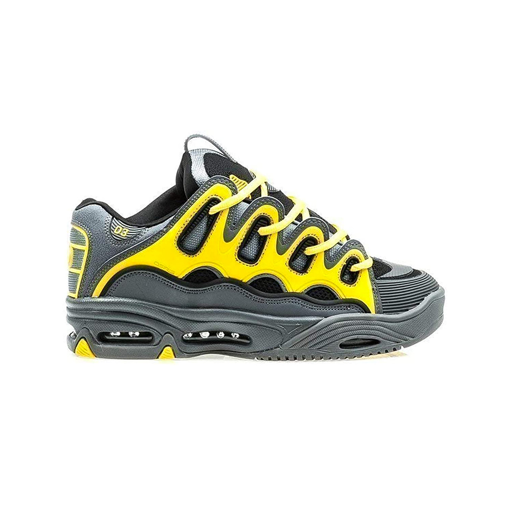 OSIRIS Scarpe 2001 D3 Black: Yellow: Charcoal