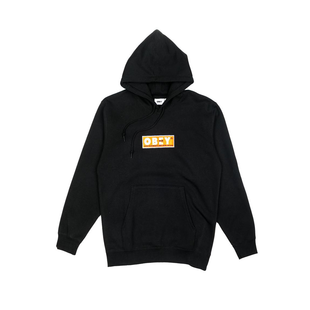 Obey pullover Subvert Hood Black