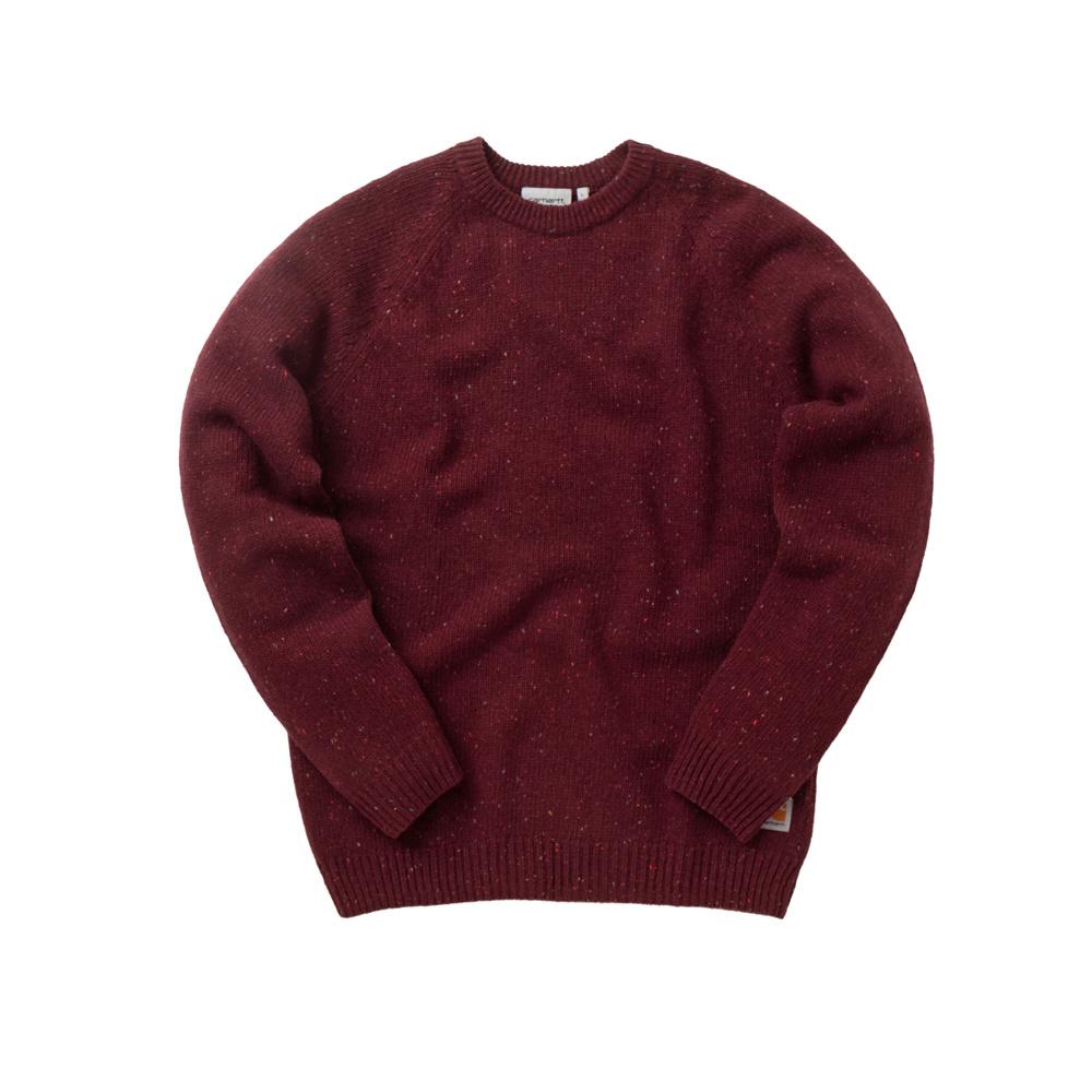 CARHARTT Anglistic Sweater 80/20% lana / cotone, finezza 3 Maglia completamente alla moda sul giromanica Maniche raglan Etichetta quadrata sul fondo