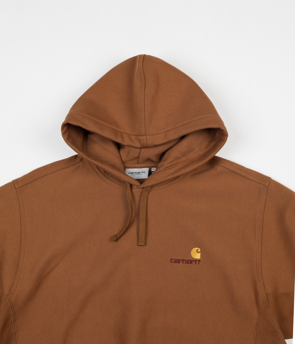 carhartt american script hoodie hamilton brown 4 2