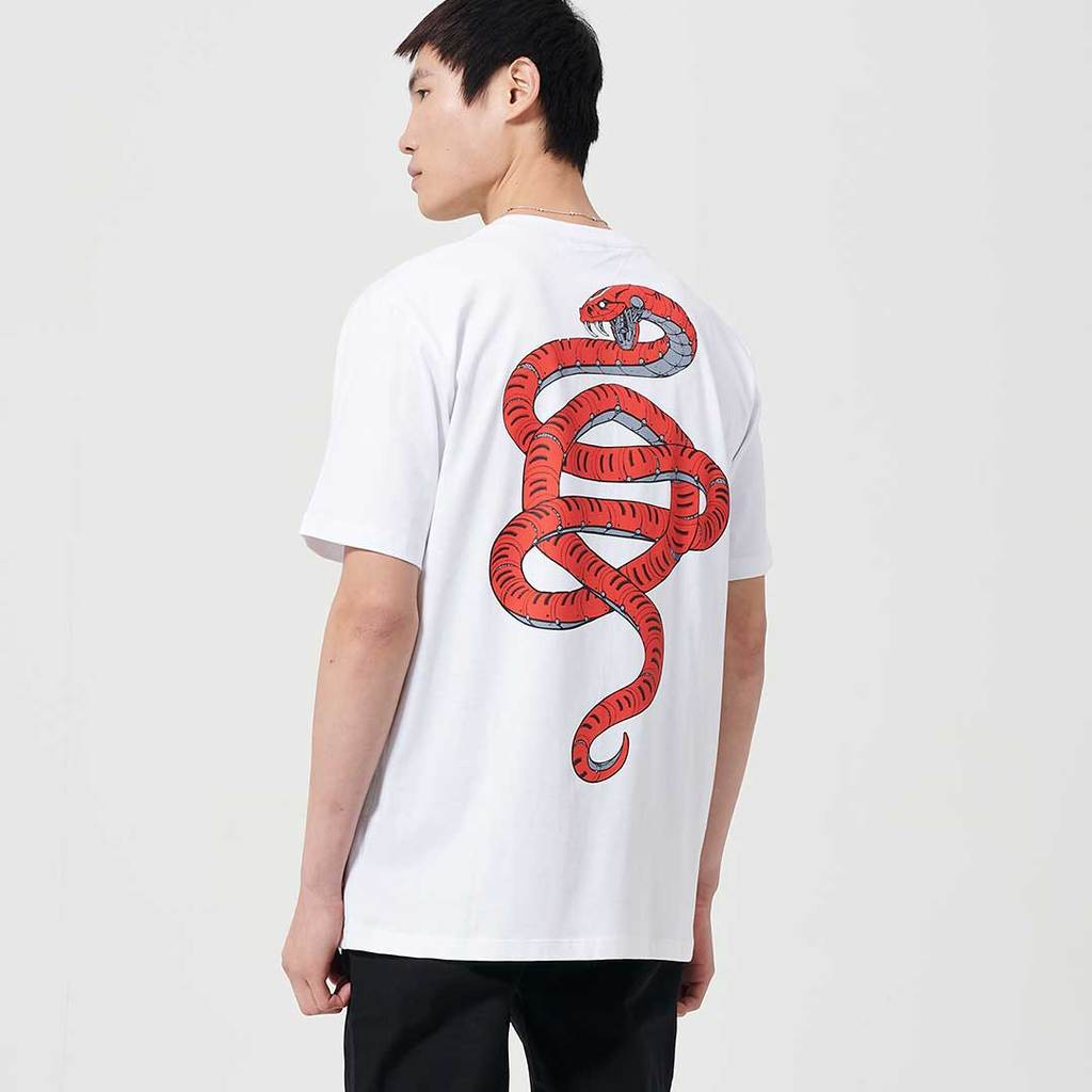 Dolly Noire T-Shirt Death Viper Tee White ts406