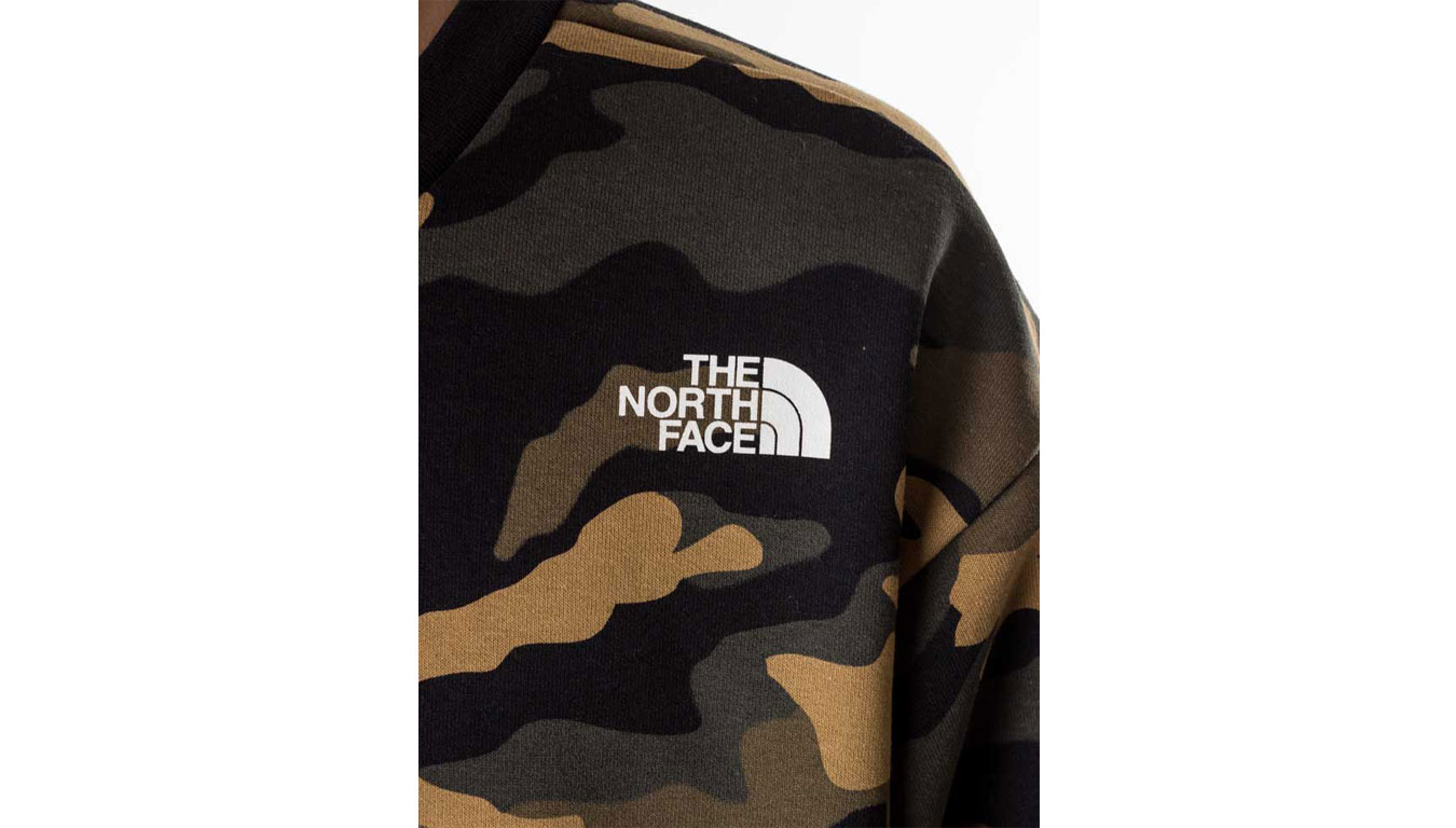 The North Face M Graphic LS Crew camouflage