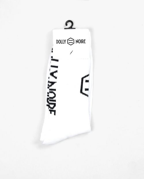 Dolly Noire Calze Vertical Logo White Socks