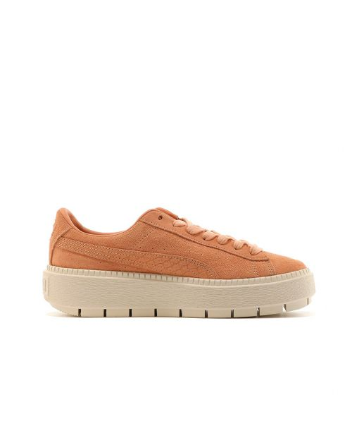 Puma Suede Platform Trace Animal Dusty Coral/ Metallic Bronze