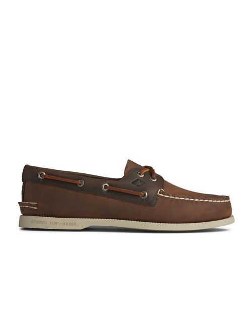 Sperry Scarpe da Barca A/O 2-Eye DK Tan/ Brown