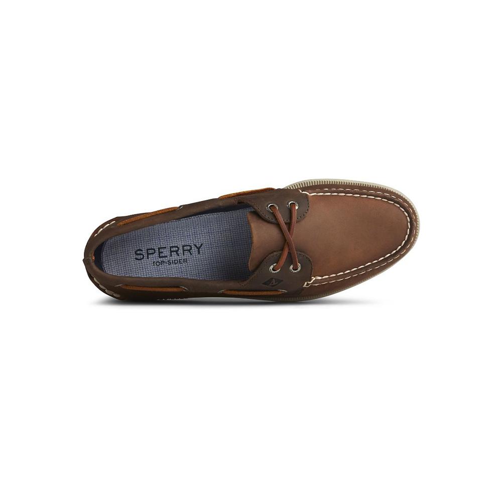 Sperry Scarpe da Barca A/O 2-Eye DK Tan/ Brown