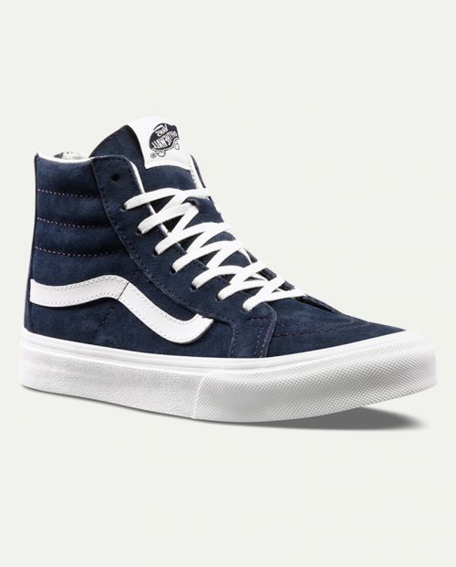 VANS Sk8 -HI Slim Zip Scotchgard - Blue Graphite