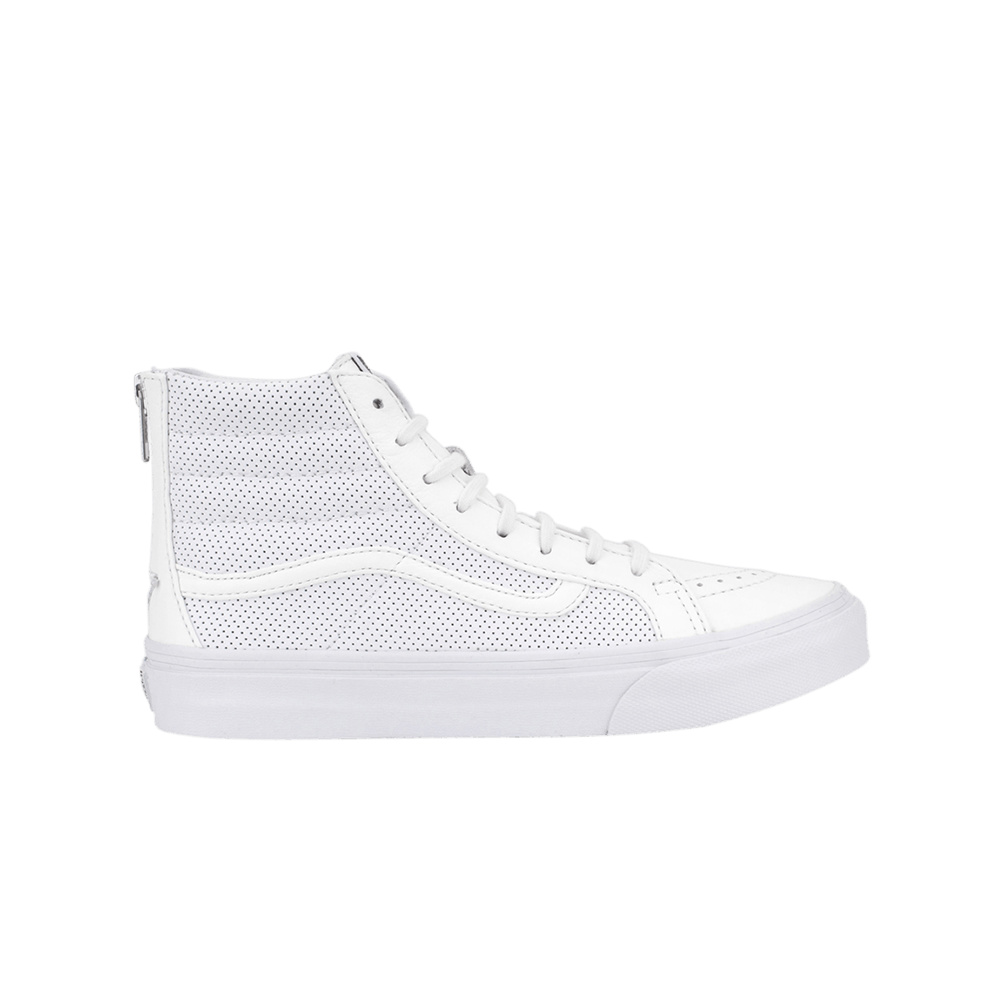 VANS - Sk8 HI Slim Zip The Perfect Leather - True Wht