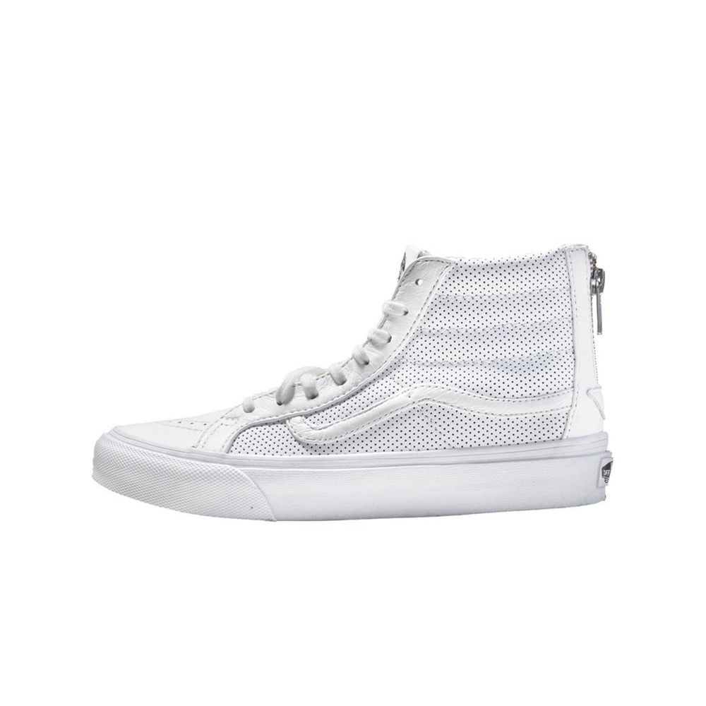 VANS - Sk8 HI Slim Zip The Perfect Leather - True Wht VANS - Sk8 HI Slim Zip The Perfect Leather - True Wht