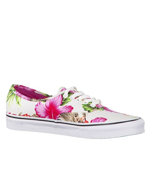 Vans Scarpa Authentic (Hawaiian Floral) White