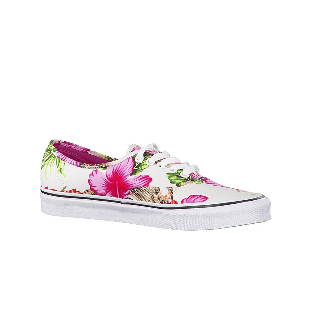 Vans Scarpa Authentic (Hawaiian Floral) White