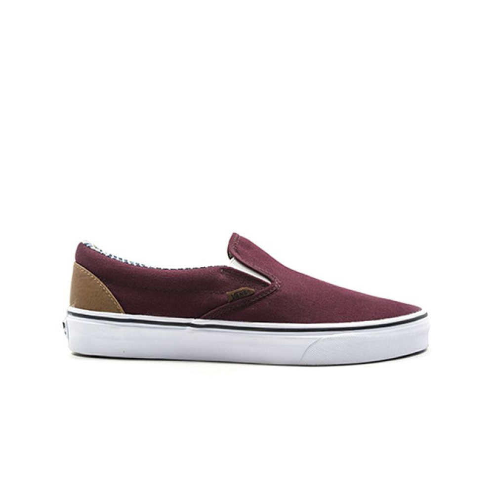 Vans Scarpa Classic Slip-on (C&L) Bordeaux/Stripe Denim