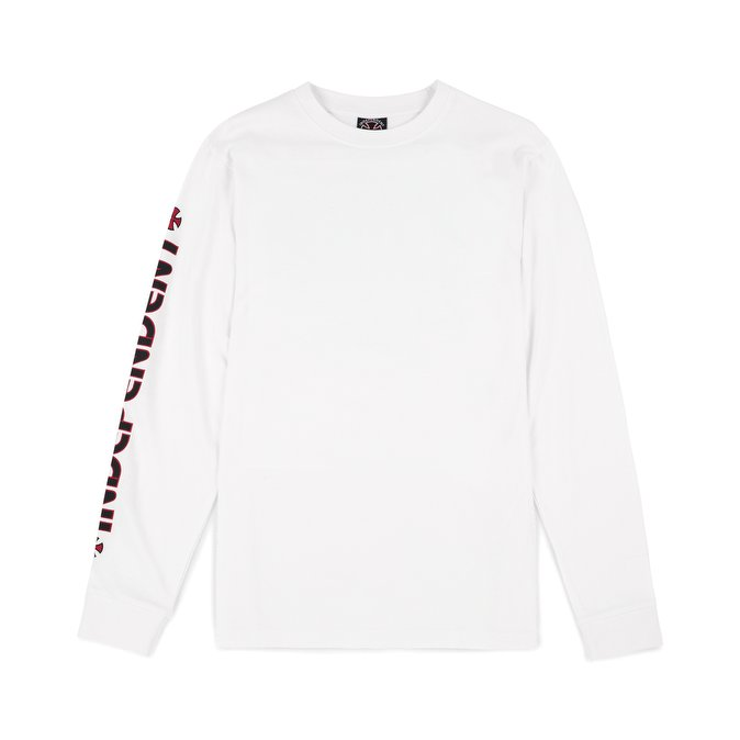 Independent T-Shirt Bar Cross L/S White