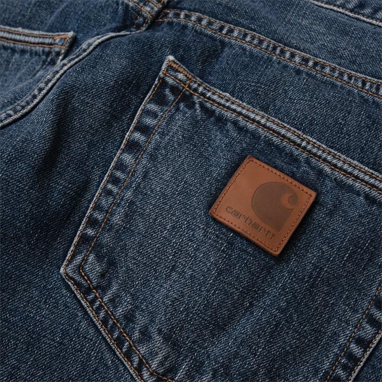 CARHARTT Pantaloni Klondike Pant - Blue denim Mid Worn Wash