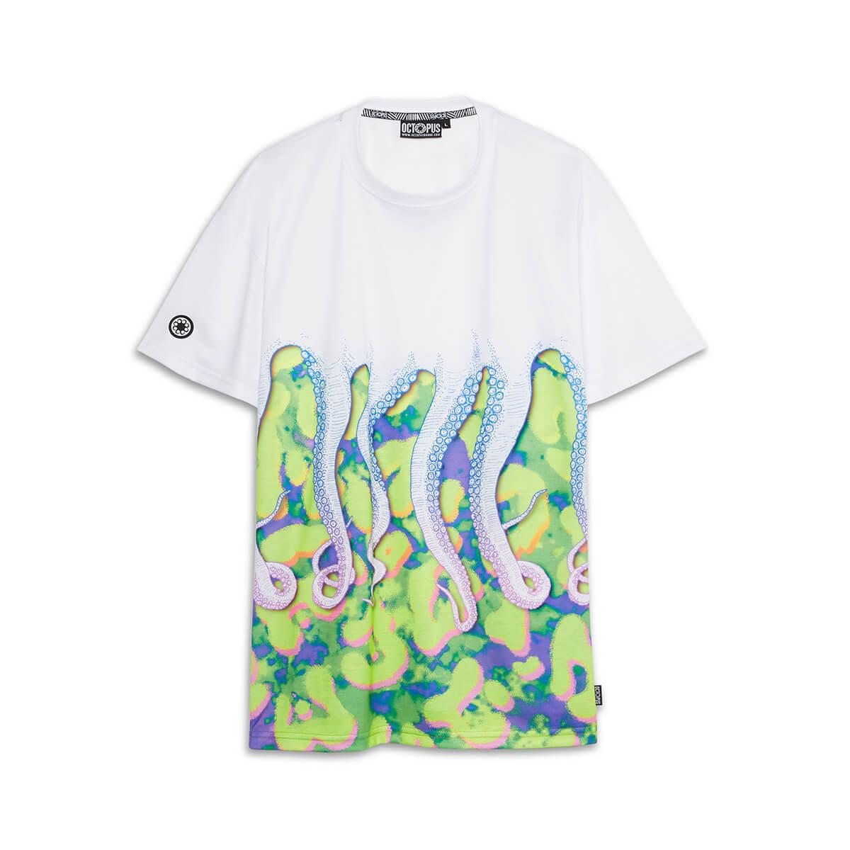 Octopus T-Shirt Drank Tee White_