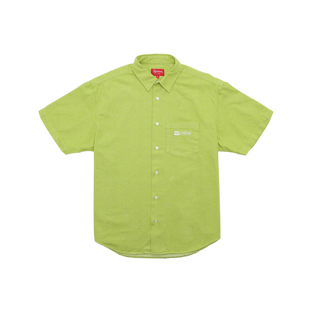 Supreme-Invert-Denim-S-S-Shirt-Lime