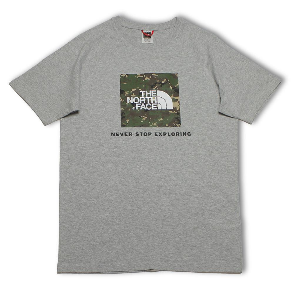 The North Face T-Shirt Raglan Red Box