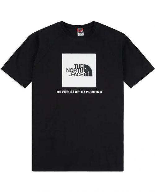 The North Face T-Shirt m/ss Raglan Red Box Tee_BlackWhite_2