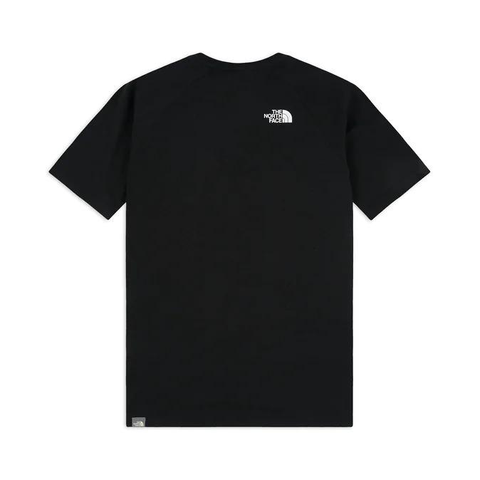The North Face T-Shirt m/ss Raglan Red Box Tee_BlackWhite