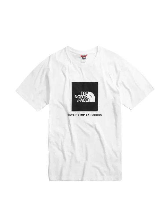 The North Face T-Shirt m/ss Raglan Red Box Tee_WhiteBlack