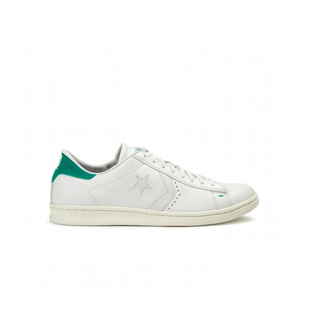 CONVERSE Pro Leather LP OX White DustyB retro verde