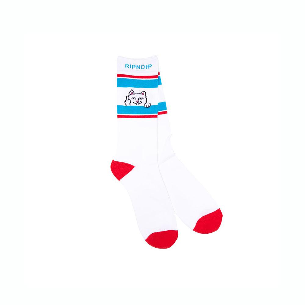 Calze Ripndip Peeking Nermal Socks Red Blue