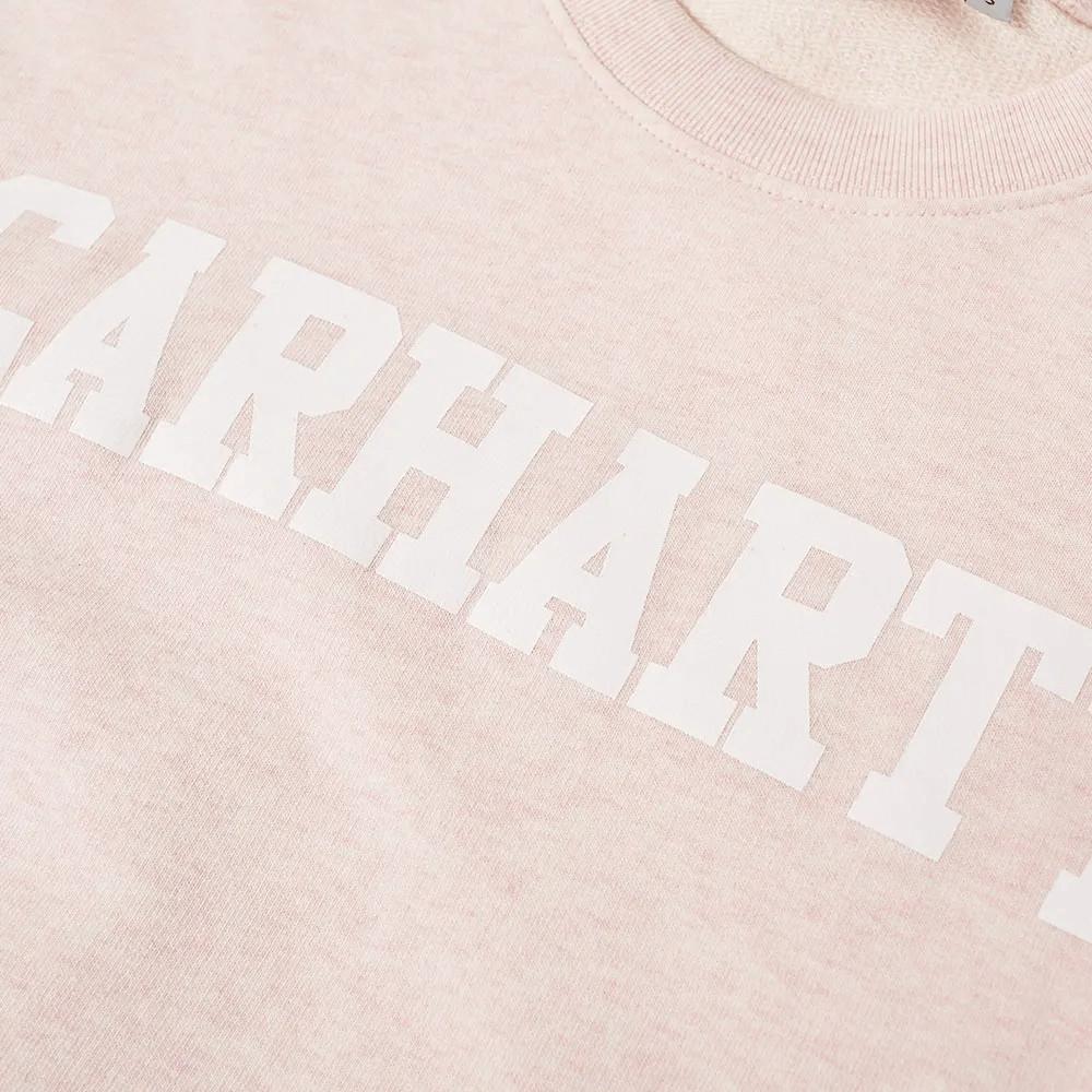 Carhartt College Sweat SANDY ROSE HEATHER WHT 2