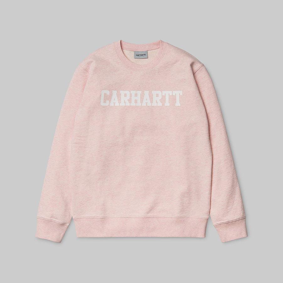 Carhartt Felpa College Sweat – Sandy Rose