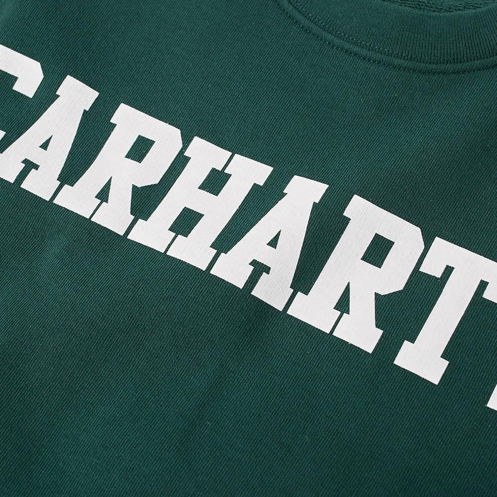 Carhartt Felpa College Sweat - TASMANIA- WHT