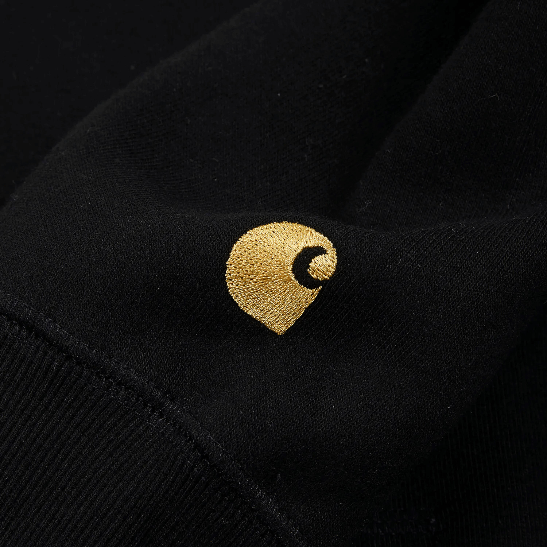 Carhartt Felpa HODDED CHASE SWEAT - BLACK-GOLD