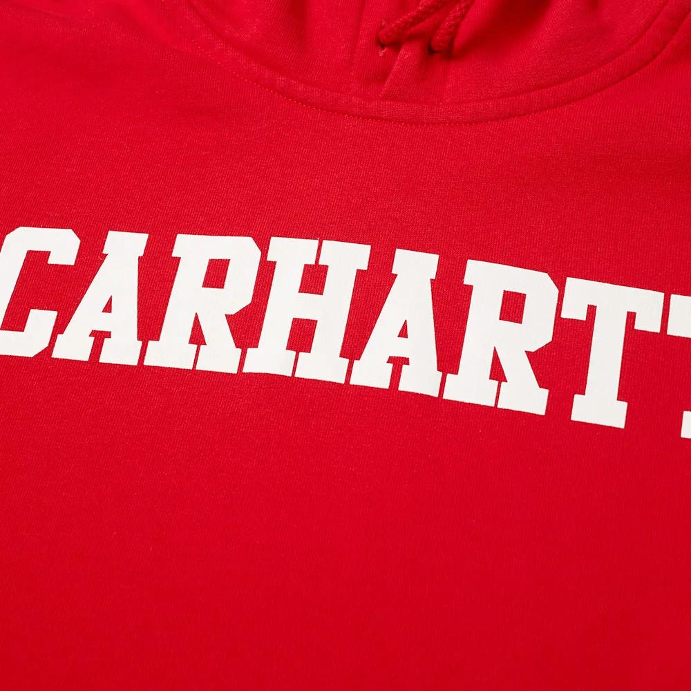 Carhartt Felpa Hooded College Sweat - Cardinal White