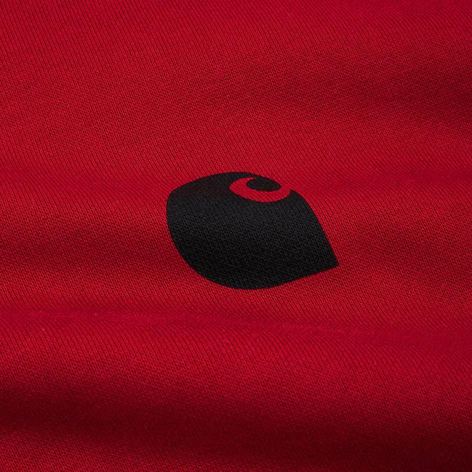 Carhartt Felpa Sweat 1989 WIP Sweat- BLAST RED- BLK