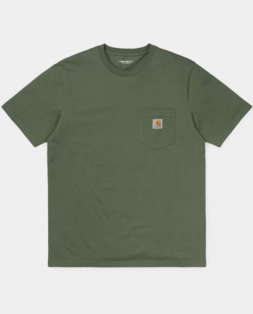 Carhartt T-Shirt S:S Pocket T-Shirt - DOLLAR GREEN